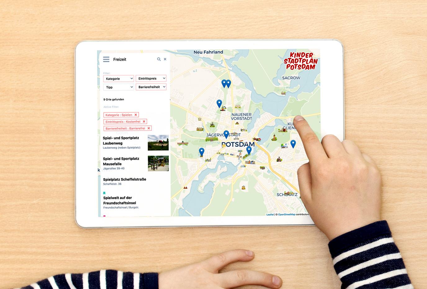 Kinderstadtplan Potsdam